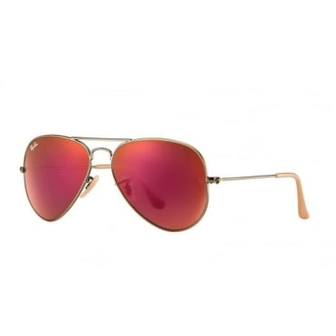 Red Mirror Aviator Sunglasses RB3025 167/2K 58