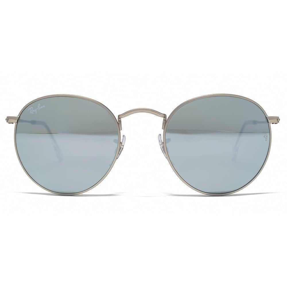 5cfbbcd9662 Ray-Ban Round Silver Flash Sunglasses RB3447 019 30 50 - Ladies ...