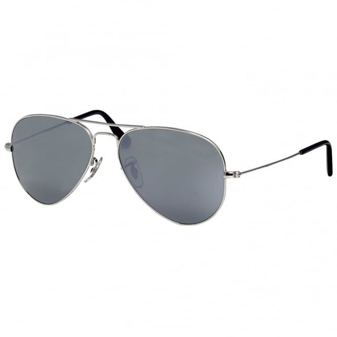 0699d44fea Silver Aviator RB3025 W3275 55 - Sunglasses from Hillier Jewellers UK