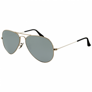 Silver Aviator Sunglasses RB3025 W3277 58