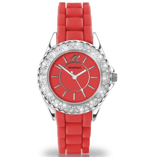 Party Time by Sekonda Red Ladies Watch 4455