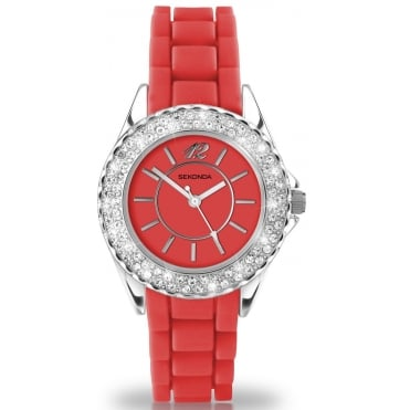 Red Ladies Watch 4455