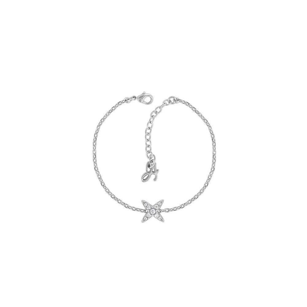 6e1bb38a5 Adore Jewellery by Swarovski Rhodium Plated 4 Point Star Bracelet 5259853