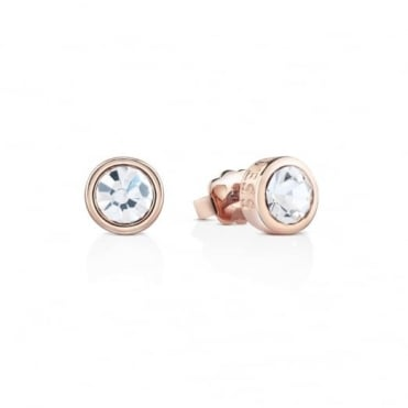 Rose Gold Plate Shiny Earrings UBE61021