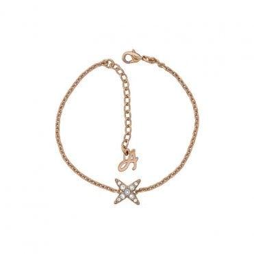 fe69db2e8 Adore Jewellery by Swarovski Rose Gold Plated 4 Point Star Bracelet 5303131
