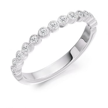 Round Brilliant Cut 0.25ct Half Eternity Ring HET2503