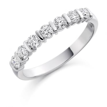 The Raphael Collection Round Brilliant Cut 0.50ct Half Eternity Ring HET1221