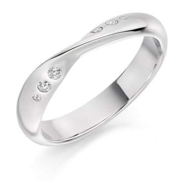 Round Brilliant Cut .09ct Cut Out Half Eternity Ring HET1811