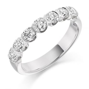 The Raphael Collection Round Brilliant Cut 1.00ct Half Eternity Ring HET1845