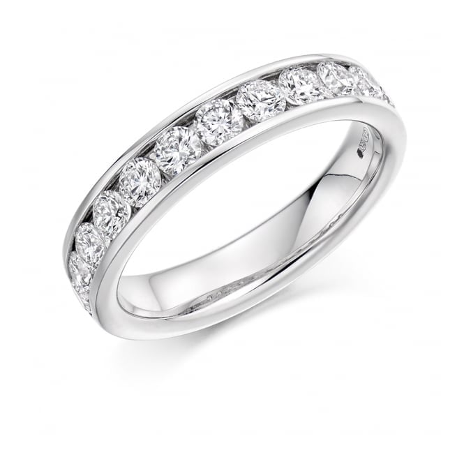 Round Brilliant Cut 1.00ct Half Eternity Ring HET2619