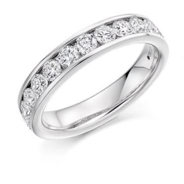 The Raphael Collection Round Brilliant Cut 1.00ct Half Eternity Ring HET2619