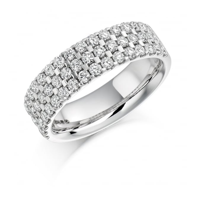 Round Brilliant Cut 1.05ct Half Eternity Ring HET1117
