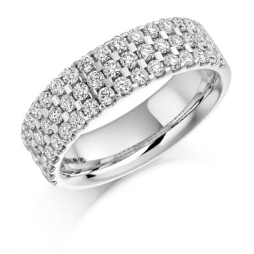 The Raphael Collection Round Brilliant Cut 1.05ct Half Eternity Ring HET1117