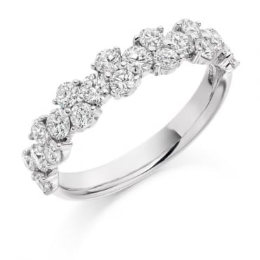 The Raphael Collection Round Brilliant Cut 1.20ct Half Eternity Ring HET1911