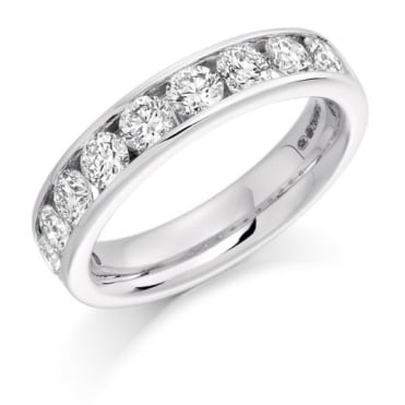 The Raphael Collection Round Brilliant Cut 1.50ct Half Eternity Ring HET1323