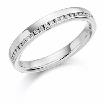 The Raphael Collection Round Brilliant Cut .12ct Off Set Half Eternity Ring HET1152