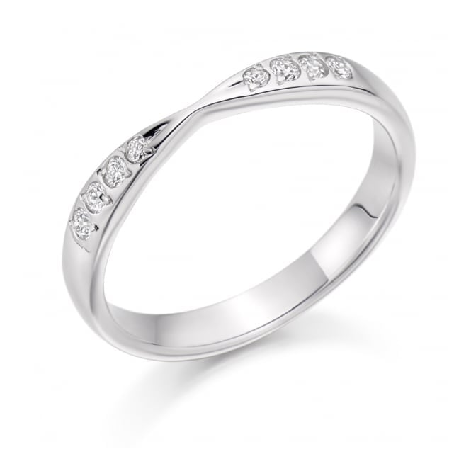 Round Brilliant Cut .15ct Cut Out Half Eternity Ring HET2287