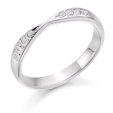 The Raphael Collection Round Brilliant Cut .15ct Cut Out Half Eternity Ring HET2287