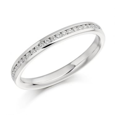 The Raphael Collection Round Brilliant Cut .15ct Half Eternity Ring HET935