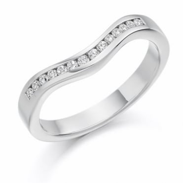 The Raphael Collection Round Brilliant Cut .16ct Curved Half Eternity Ring HET1182