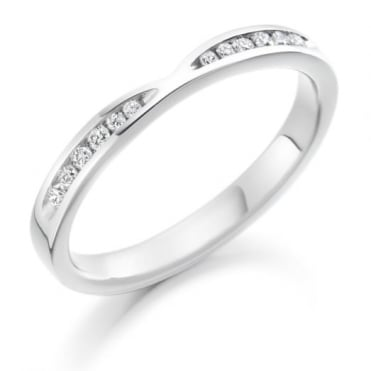 Round Brilliant Cut .18ct Cut Out Half Eternity Ring HET1730