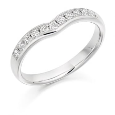 Round Brilliant Cut .20ct Curved Half Eternity Ring HET2302
