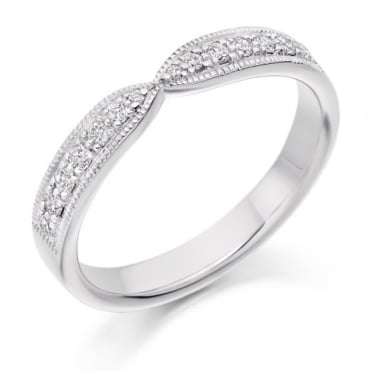 Round Brilliant Cut .20ct Cut Out Half Eternity Ring HET2295