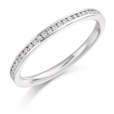 The Raphael Collection Round Brilliant Cut .20t Half Eternity Ring HET2358