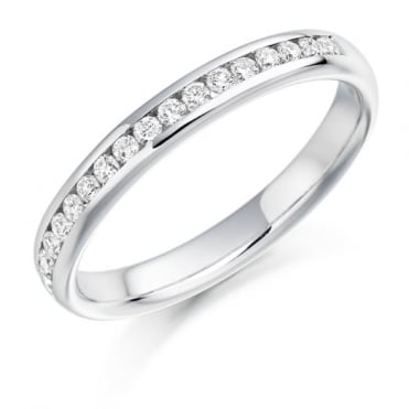 The Raphael Collection Round Brilliant Cut .22ct Half Eternity Ring HET936