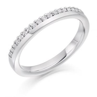 The Raphael Collection Round Brilliant Cut .22ct Off Set Half Eternity Ring HET2301