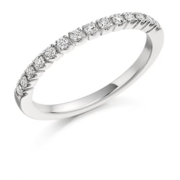 The Raphael Collection Round Brilliant Cut .23ct Half Eternity Ring HET1096
