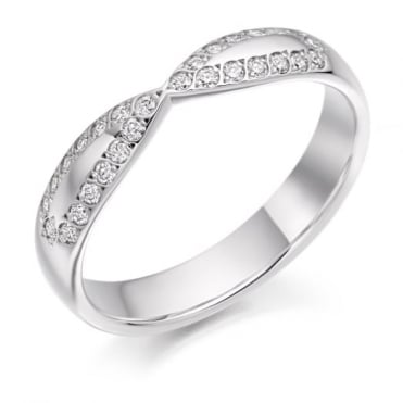 The Raphael Collection Round Brilliant Cut .25ct Cut Out Half Eternity Ring HET2286