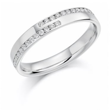 The Raphael Collection Round Brilliant Cut .25ct Half Eternity Ring HET1177