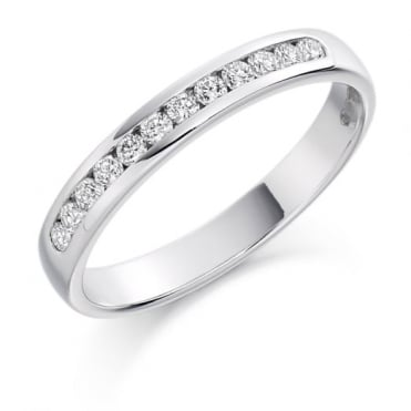 The Raphael Collection Round Brilliant Cut .25ct Half Eternity Ring HET1240