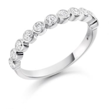 The Raphael Collection Round Brilliant Cut .25ct Half Eternity Ring HET1411