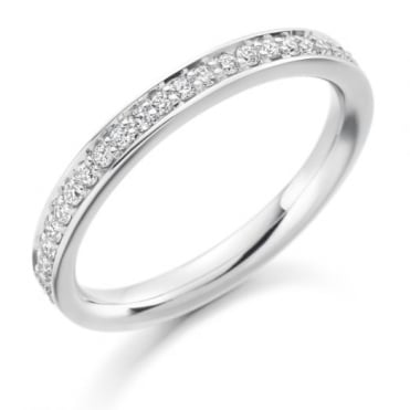 Round Brilliant Cut .25ct Half Eternity Ring HET1461