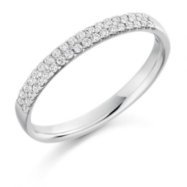 The Raphael Collection Round Brilliant Cut .25ct Half Eternity Ring HET15252