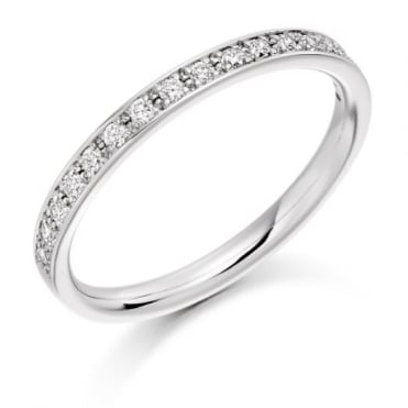 The Raphael Collection Round Brilliant Cut .25ct Half Eternity Ring HET1792