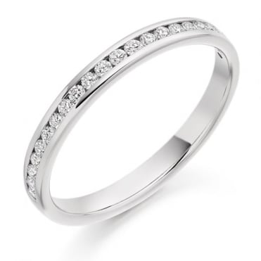 The Raphael Collection Round Brilliant Cut .25ct Half Eternity Ring HET2088