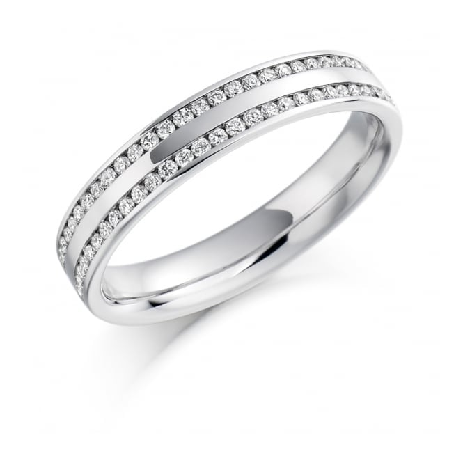 Round Brilliant Cut .26ct Half Eternity Ring HET1136