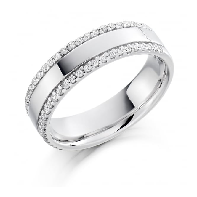 Round Brilliant Cut .26ct Half Eternity Ring HET1191