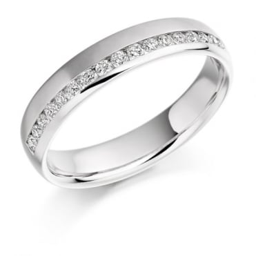 The Raphael Collection Round Brilliant Cut .26ct Off Set Half Eternity Ring HET1152