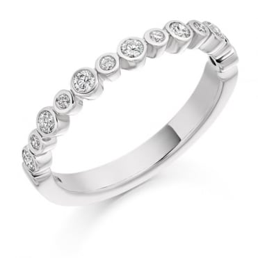 Round Brilliant Cut .30ct Half Eternity Ring HET1841