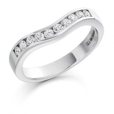 Round Brilliant Cut .33ct Curved Half Eternity Ring HET1203