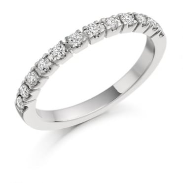 The Raphael Collection Round Brilliant Cut .33ct Half Eternity Ring HET1097