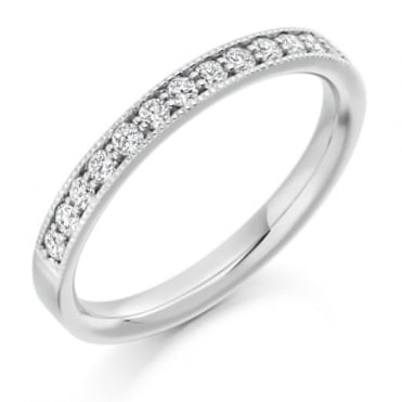 The Raphael Collection Round Brilliant Cut .33ct Half Eternity Ring HET1771