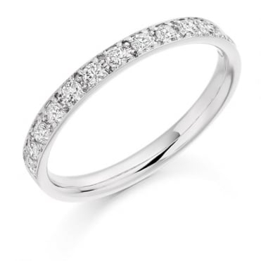 Round Brilliant Cut .40ct Half Eternity Ring HET2094