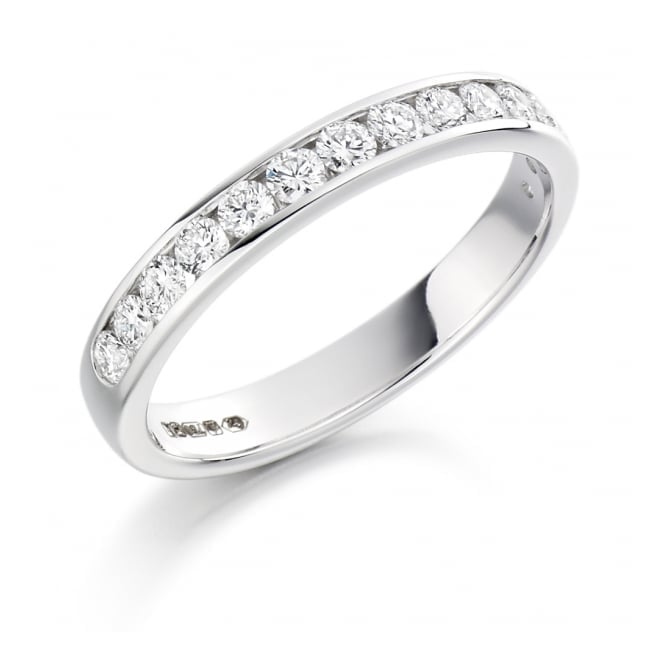 Round Brilliant Cut .50ct Half Eternity Ring HET1310