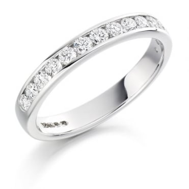 The Raphael Collection Round Brilliant Cut .50ct Half Eternity Ring HET1310