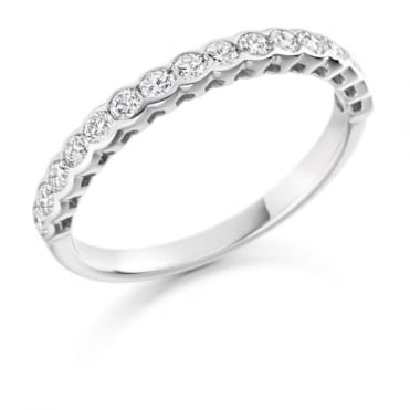 Round Brilliant Cut .50ct Half Eternity Ring HET1427